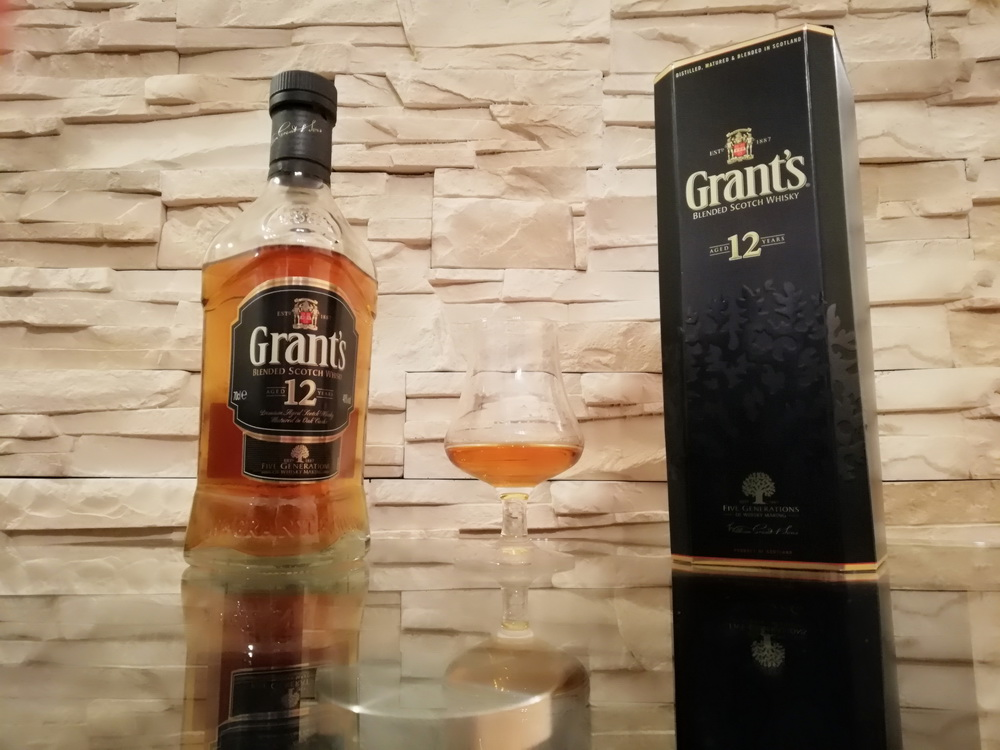 test blended whisky - grant's 12y